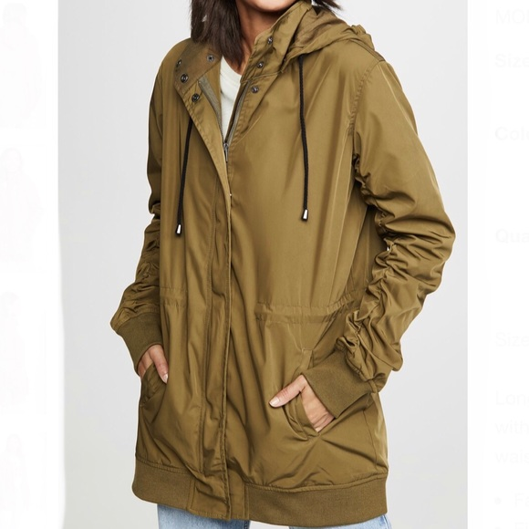 NWT❤️Monrow army parka jacket